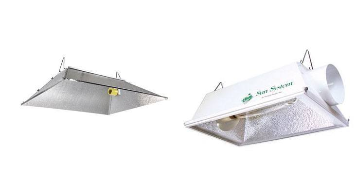 Open vs. Air Cooled Reflectors.
