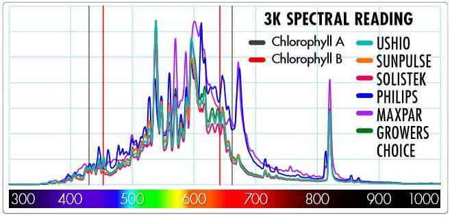 Spectral Reading of 3100k CMH Bulbs