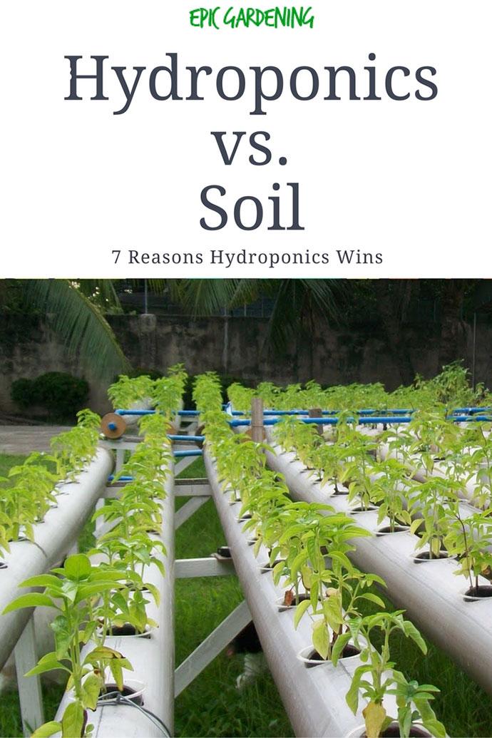 Hydroponics vs soil 7 reasons hydroponics wins epic for Soil vs hydro