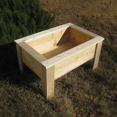50 Free Raised Bed Garden Plans, How To Build A Raised Garden Bed With Legs From Pallets