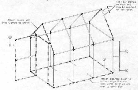 6x9 PVC Greenhouse