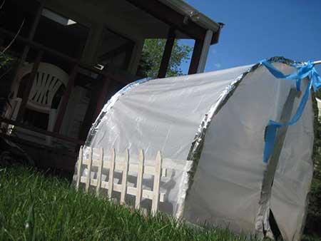 High-Tech Backyard Greenhouse