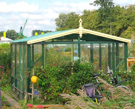 Recycled Wood Greenhouse