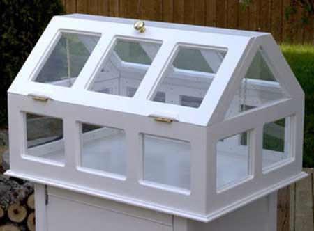 Small Pedestal Greenhouse
