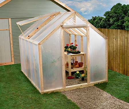 Ventilated Wood Frame Greenhouse