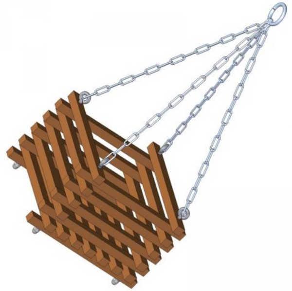 slat style hanging basket
