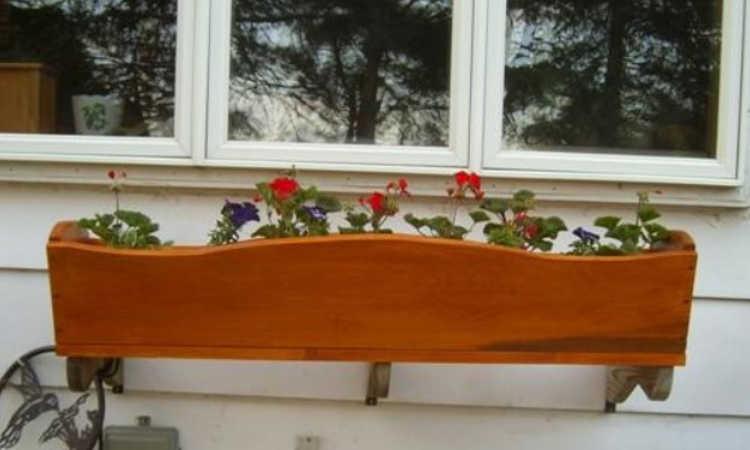 wall mounted window box