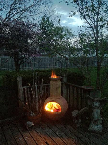Chiminea fire too hot
