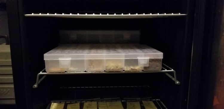 Storing seeds in NewAir beverage cooler