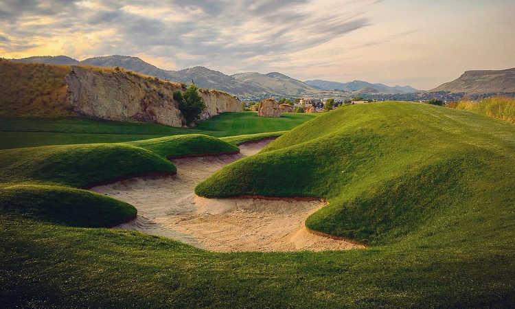Landscape design for golf course