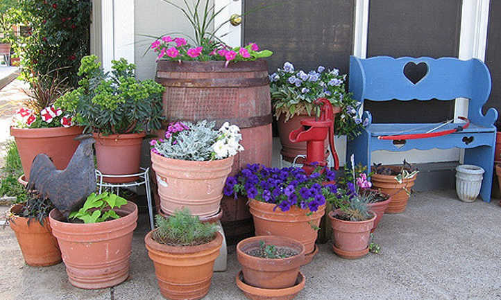 Heavy container garden