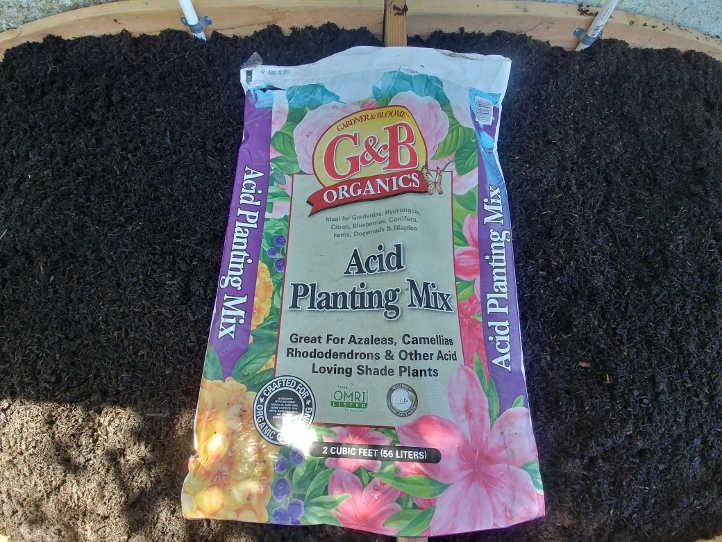 Acid planting mix