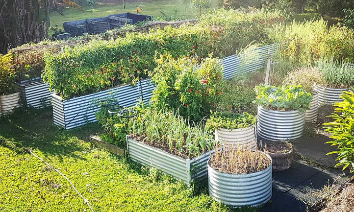 whatto fill raised garden bed with