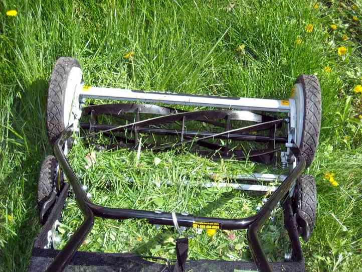 A throwback to older times, reel lawn mowers are efficient and cheap