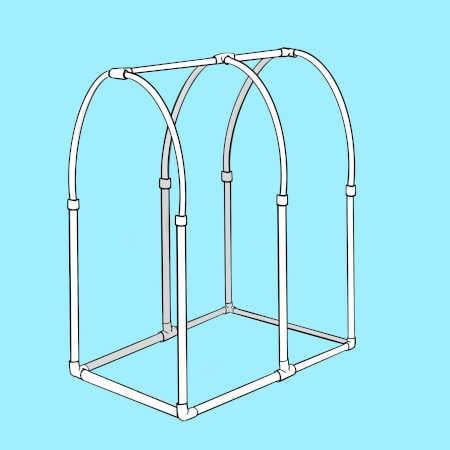 Hoop house frame