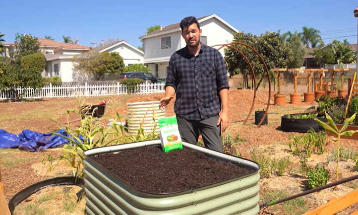 Filled raised bed