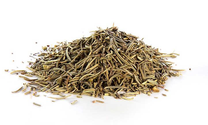 Dried rosemary needles
