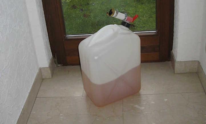Stored urine