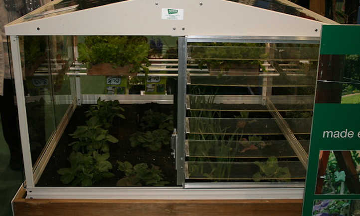 Large raised bed greenhouse