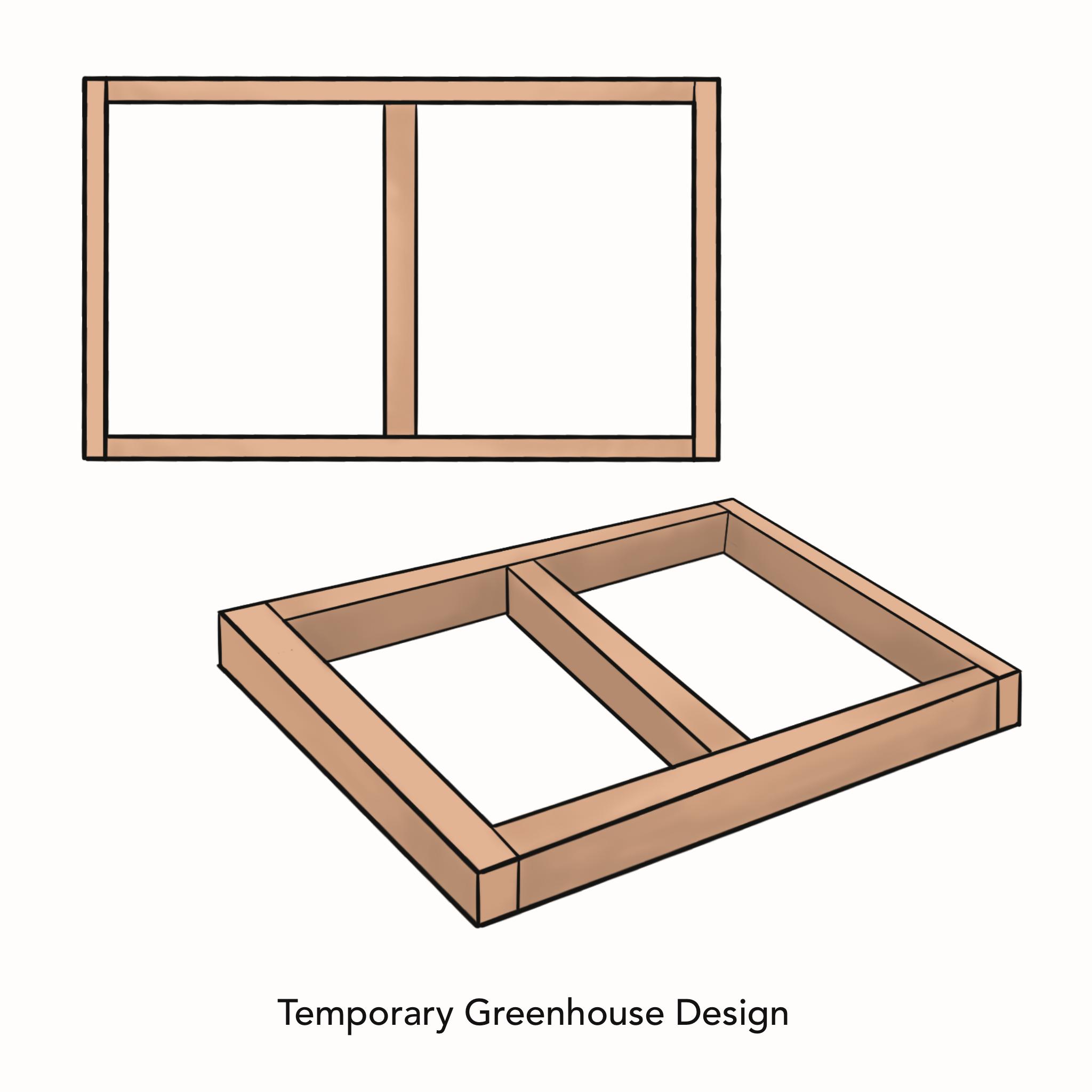 Temporary greenhouse design